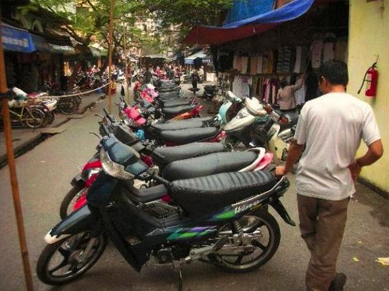Hanoi bike shop.