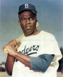 Neither Brooks, nor Edward G., nor Smokey, nor Bojangles, nor Crusoe, nor Phil Alden, nor Holly Peete: it's real-life Brooklyn Dodgers power hitter (and the first black man ever to cross the professional baseball color barrier), Jackie Robinson!