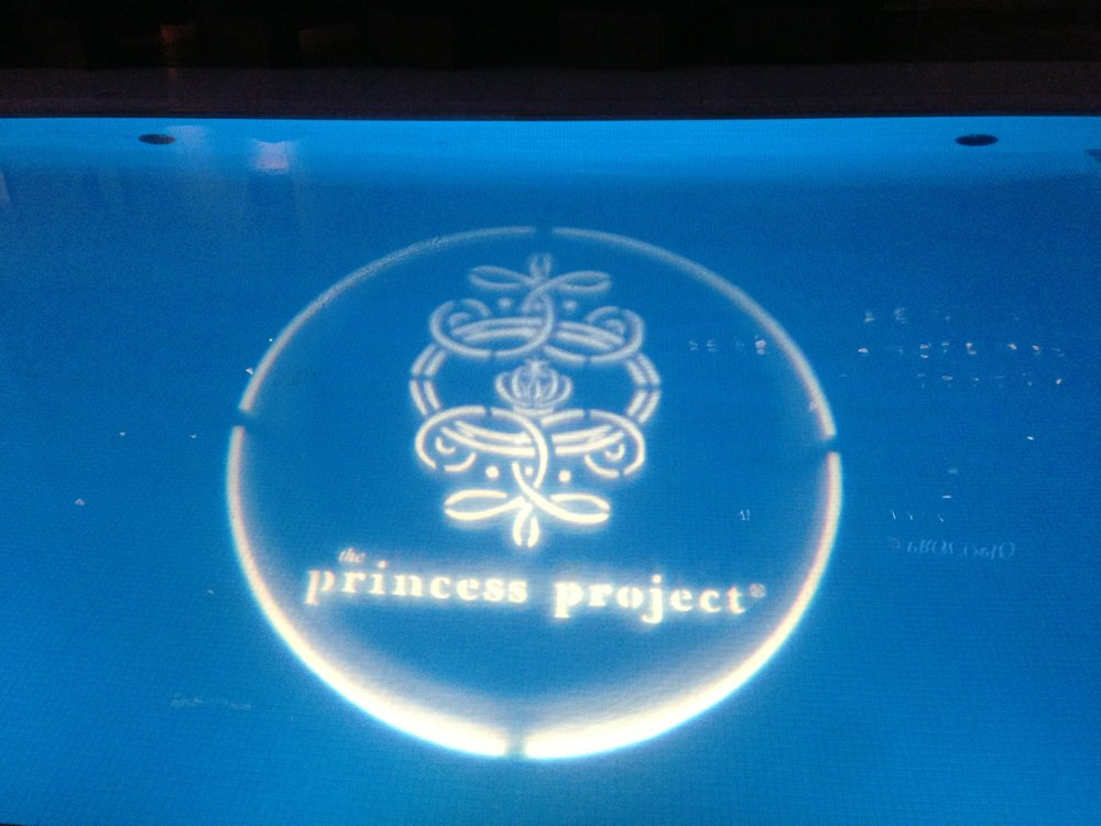 Projection in the pool during the event