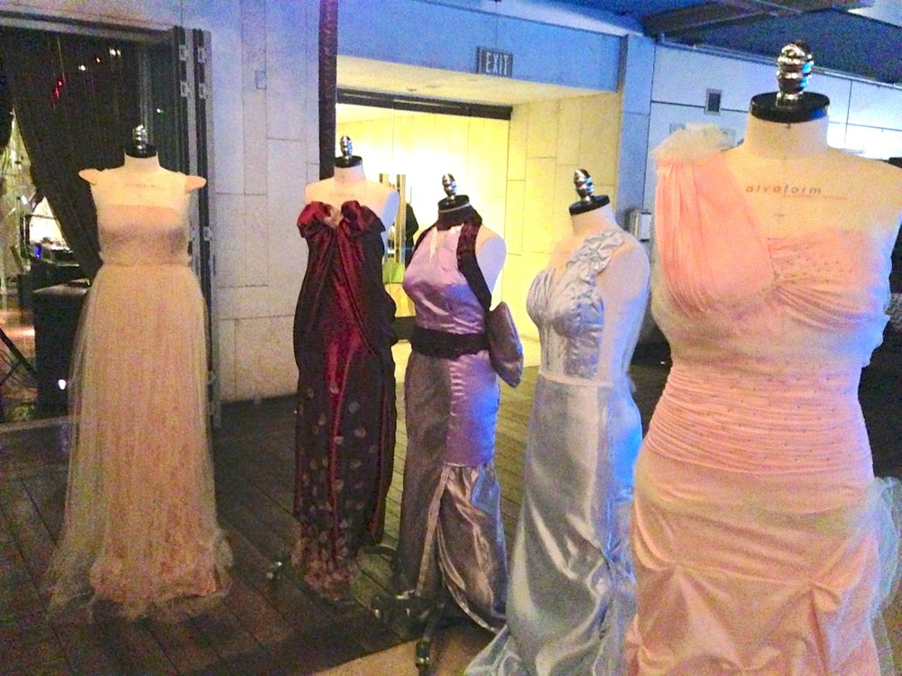 Finished dresses from the front