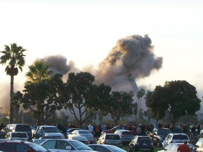 Chula Vista Power Plant implosion.