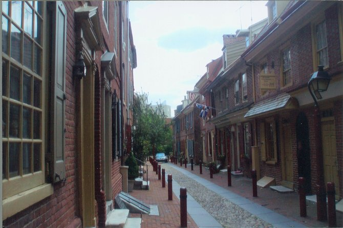 Elfreth's Alley in Philadelphia, the oldest residential street in America.
