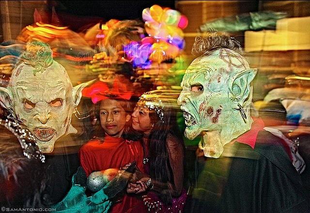 Street party in San Agustin Etla.