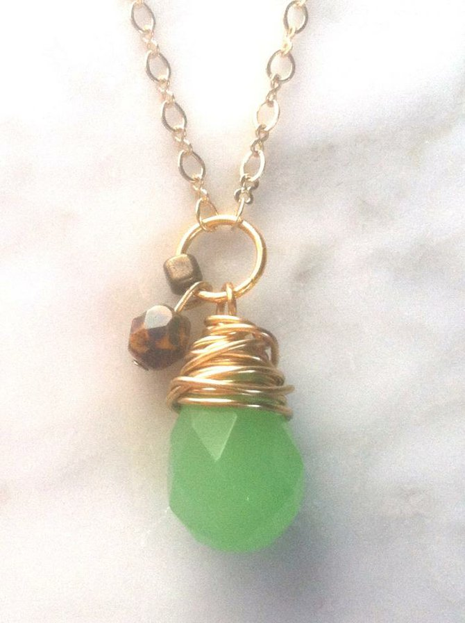 Jadeite pendant by Mellie's Handmade Designs