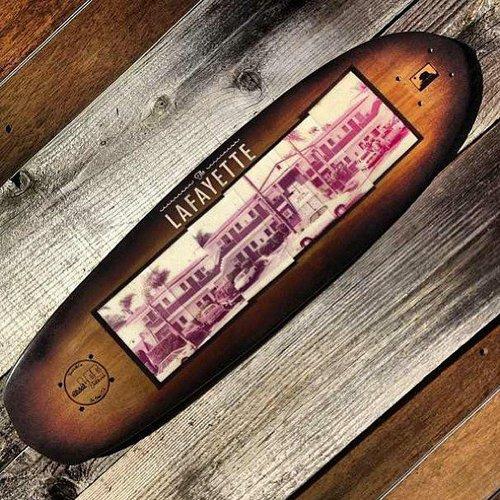 Natural Log Skateboards custom deck for the Lafayette.