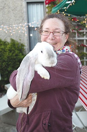 Patricia Mulcahy, president of the San Diego chapter of the House Rabbit Society