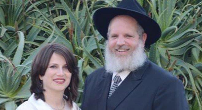 Rabbi Yeruchem Eilfort (with his wife Nechema) found God on the streets of Tijuana.