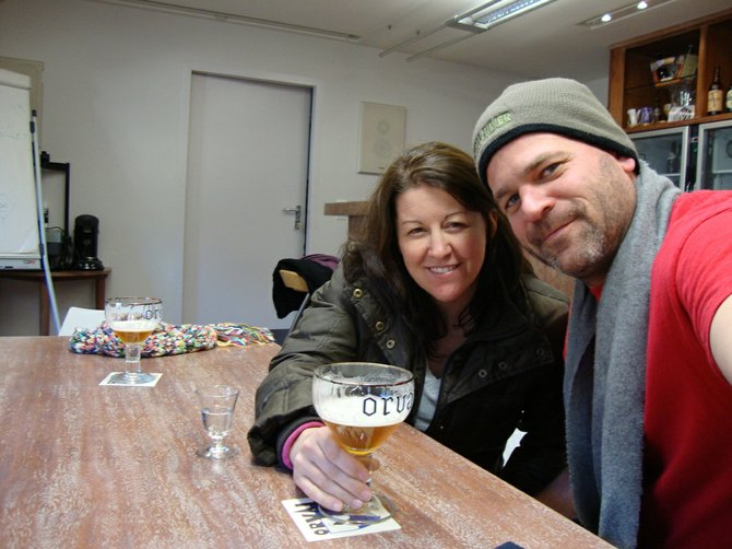 Dande and Jeff Bagby of the WIP Bagby Beer