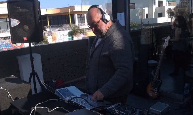 Tijuana producer Ejival at the Vegetarian Cuisine and Arts Festival - March 16, 2013