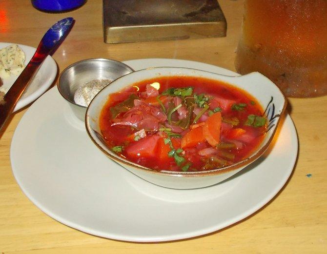 """Communist""-size bowl of borscht - $2.87"