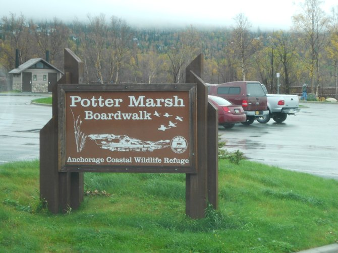 Potter March sign in Anchorage, Alaska.