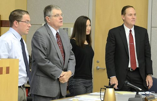 Agents Gerald Torello and Kallie Helwig in court, March 2013.  Photo Weatherston.