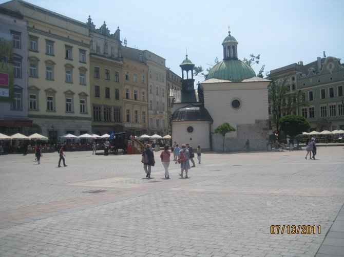 Old Krakow town square