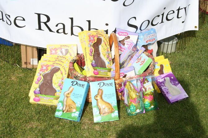 Our chocolate bunny donations from 2012.