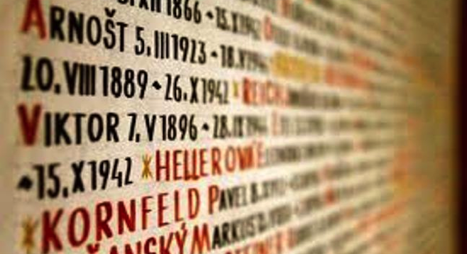 Names of Holocaust victims on the walls of Pinkas Synagogue, one of several buildings in the collection of Prague's Jewish Museum.