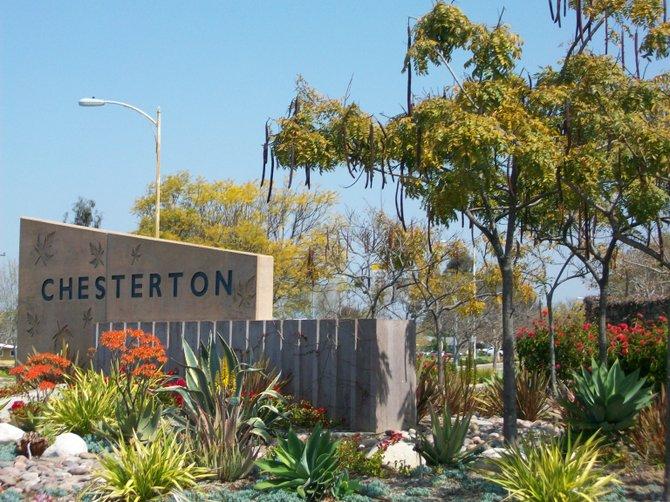 Chesterton cactus garden along Genesee Ave. in Linda Vista.