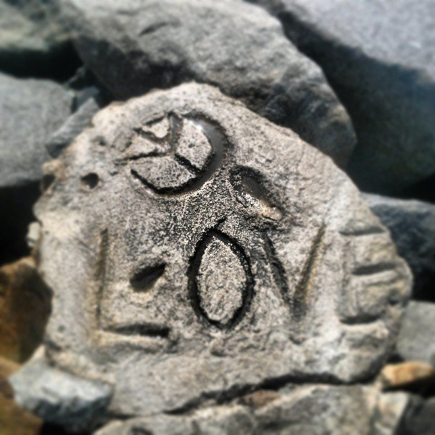Love on the rocks at the Oceanside jetty
