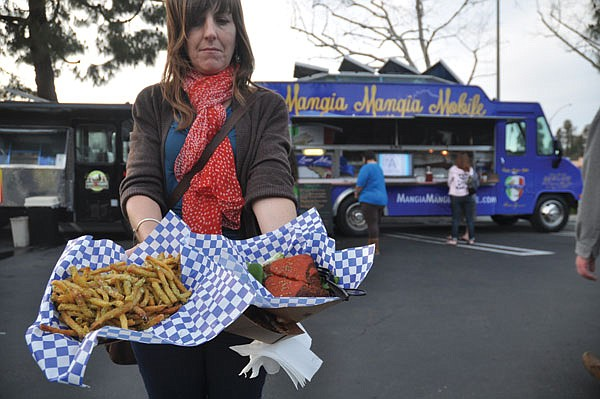 """Food-truck owner Christian Murcia says the concerns of Del Mar restaurant owners are unfounded. """"The closest restaurant is fine dining. We are attracting a different kind of client."""""""
