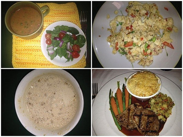 A selection of Medifast-friendly meals