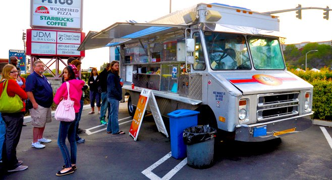 Since November, the City of Del Mar has banned food-truck gatherings such as this recent event in La Mesa. That may change soon.