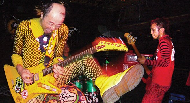 Colorful punks Peelander-Z take the stage at Soda Bar Thursday night.