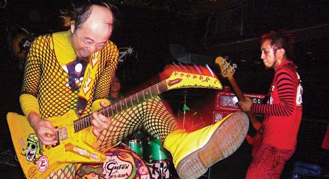 Colorful punks Peelander-Z take the stage at Soda Bar Thursday night.