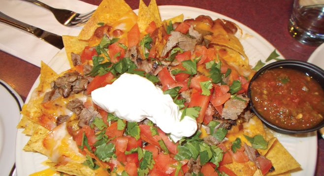 Though Louisiana cuisine is the main event here, the carne asada nachos ($5) make for nice happy-hour fare.