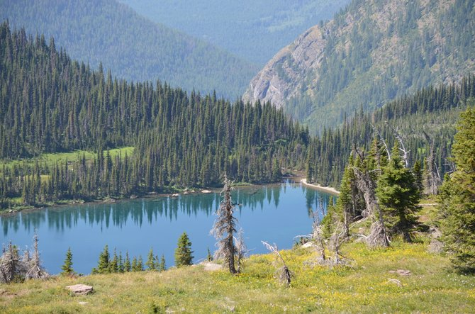 Hidden Lake in Glacier National Park.