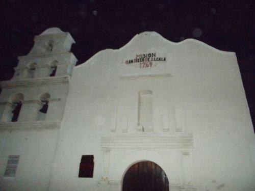 Replica of San Diego's mission at Hotel Calafia