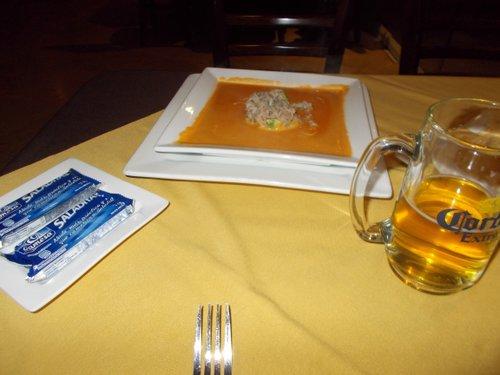 "The ""Crema Las Olas"" soup"