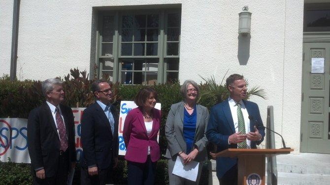 From left: Heath Fox, Joe LaCava, Susan Davis, Sherri Lightner, Scott Peters