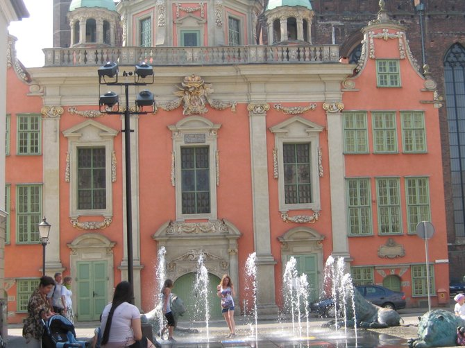 Gdansk Royal Chapel and Fountain
