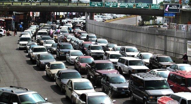 Northbound border traffic