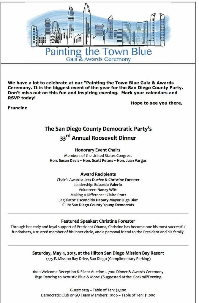 Forester gala invitation