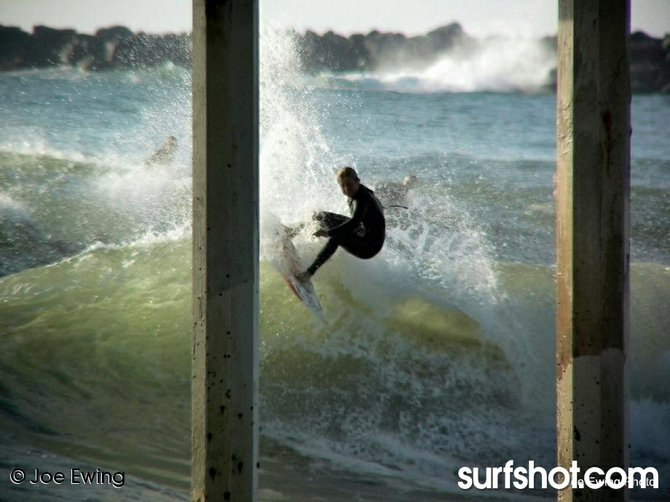 Surfing at OB Pier - Ocean Beach