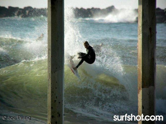 Surfing at OB Pier - Ocean Beach