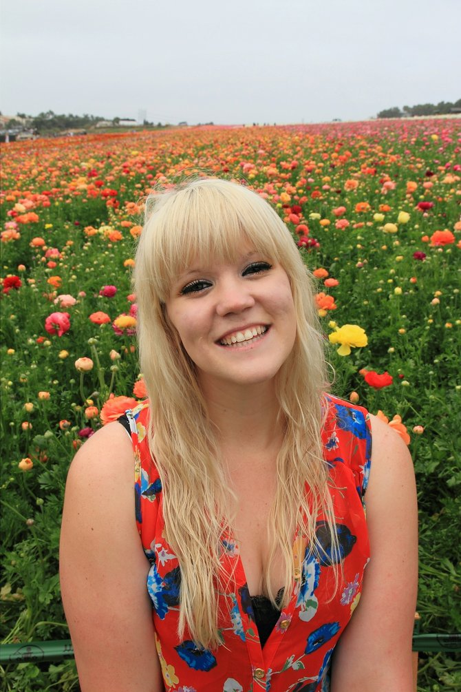Emily at the flower fields - Carlsbad