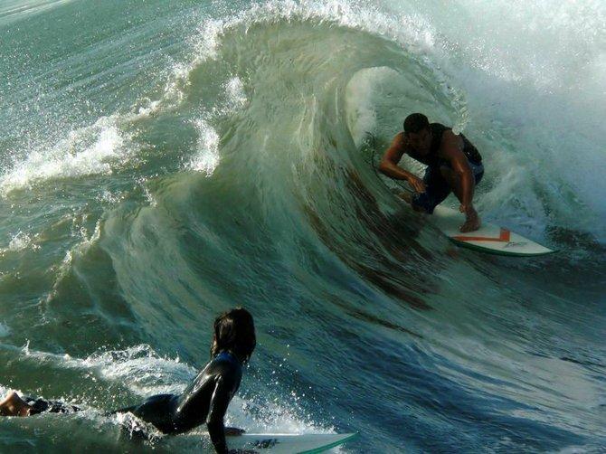 Surfing at Ocean Beach - OB