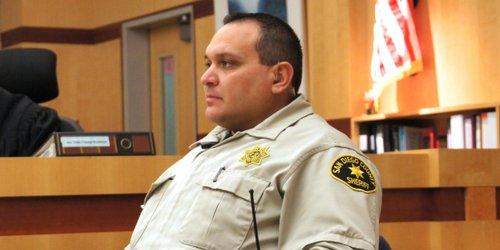 Deputy Frank Leyva said the man resisted.  Photo Weatherston.