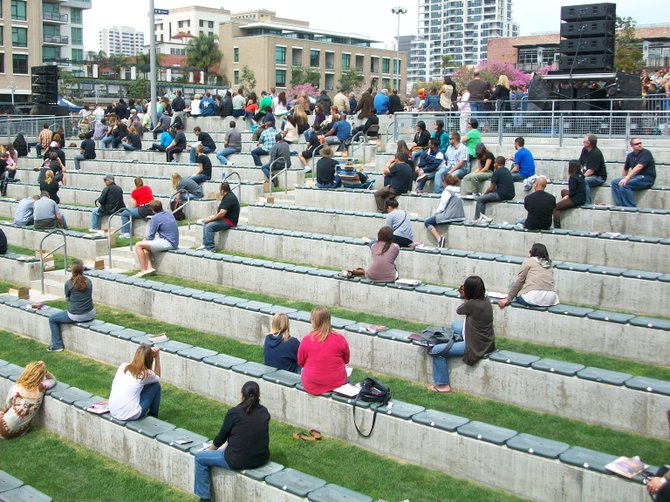 Rock Church Altar Call volunteers at Petco Park Good Friday event downtown.