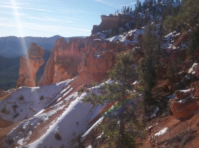 Snow covered hills in Bryce Canyon National Park