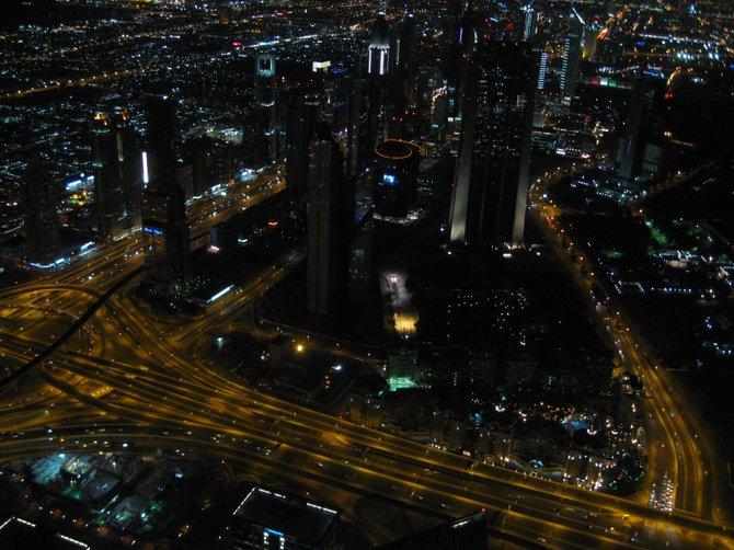 Looking down on Dubai from the Burj Khalifa