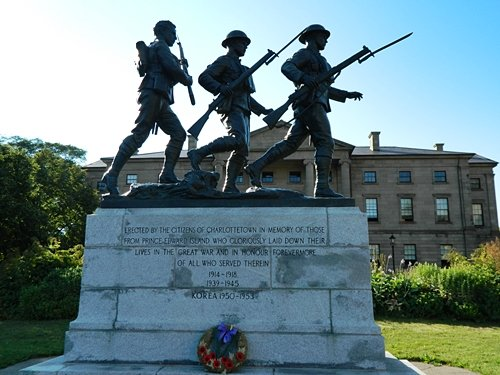 Korean War Memorial in Charlottetown.
