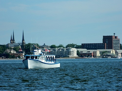 View of the Charlottetown harbor.
