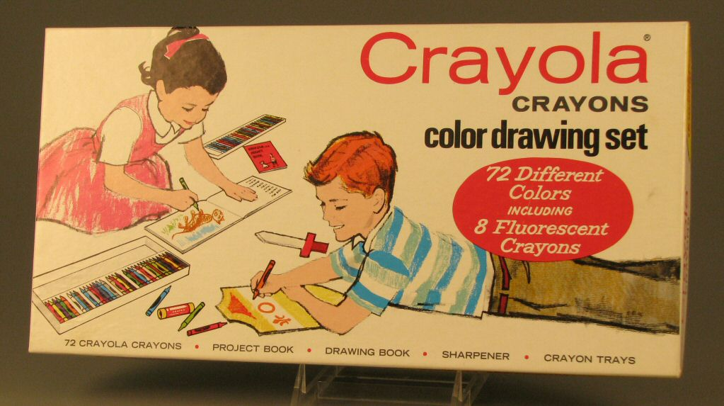 Shannon's parents splurged on Crayola's deluxe 72 piece drawing set.