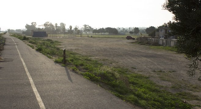 Proposed site for O.B. community garden