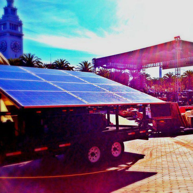 Alternative Power Productions provides solar powered stages.