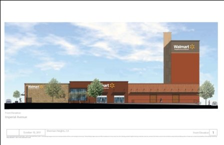 Rendering of future building by Wal Mart