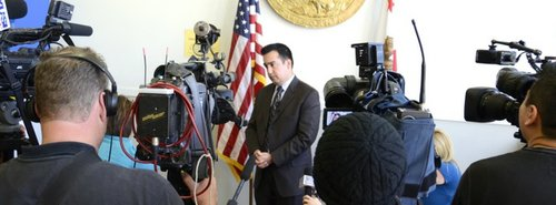 Prosecutor David Uyar spoke to media. Photo Weatherston.