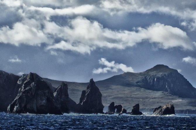 Teeth-like rocks guard Isla De Hornos from the West.